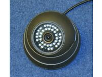 A dummy security camera complete with mounting plate and adjustable mount.