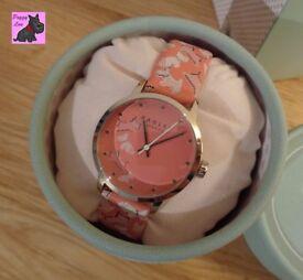 Radley RY2368 Ladies 'Fleet Street' Papaya Leather Strap Watch - NEW & Boxed
