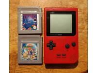 Gameboy Pocket w/ 2x games