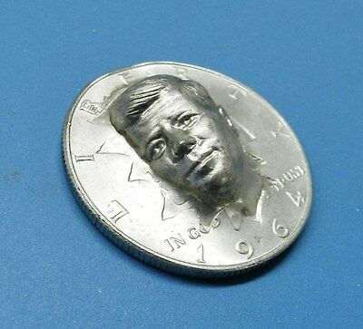 JFK HALF DOLLAR 1964 JOHN KENNEDY BUST RAISED 3 DIMENSIONAL SILVER COIN STAMPED