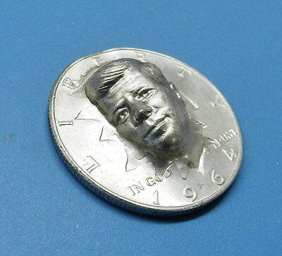 JFK HALF DOLLAR 1964 JOHN KENNEDY BUST RAISED 3 DIMENSIONAL SILVER COIN STAMPED