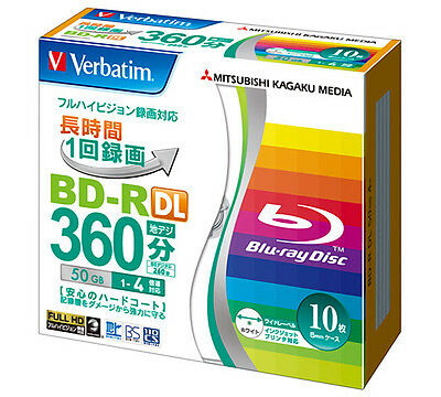 10 Verbatim Double Layer 3D Blu Ray Rohlinge 50 GB Full Printable Blu-ray DL