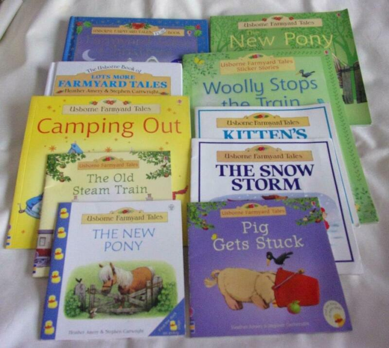 HUGE set of 17 Usborne Farmyard Tales picture books + CDs