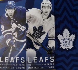 Leafs vs Florida Panthers LOWER BOWL GOLDS CTRE ICE-March 25th