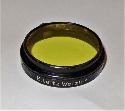 E. Leitz Wetzlar Microscope Or Camera Yellow Filter