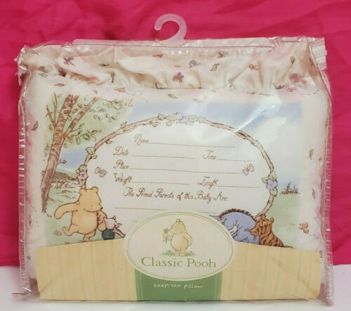 Disney Classic Pooh Keepsake Pillow Winnie the Pooh Baby Nursery Shower Gift