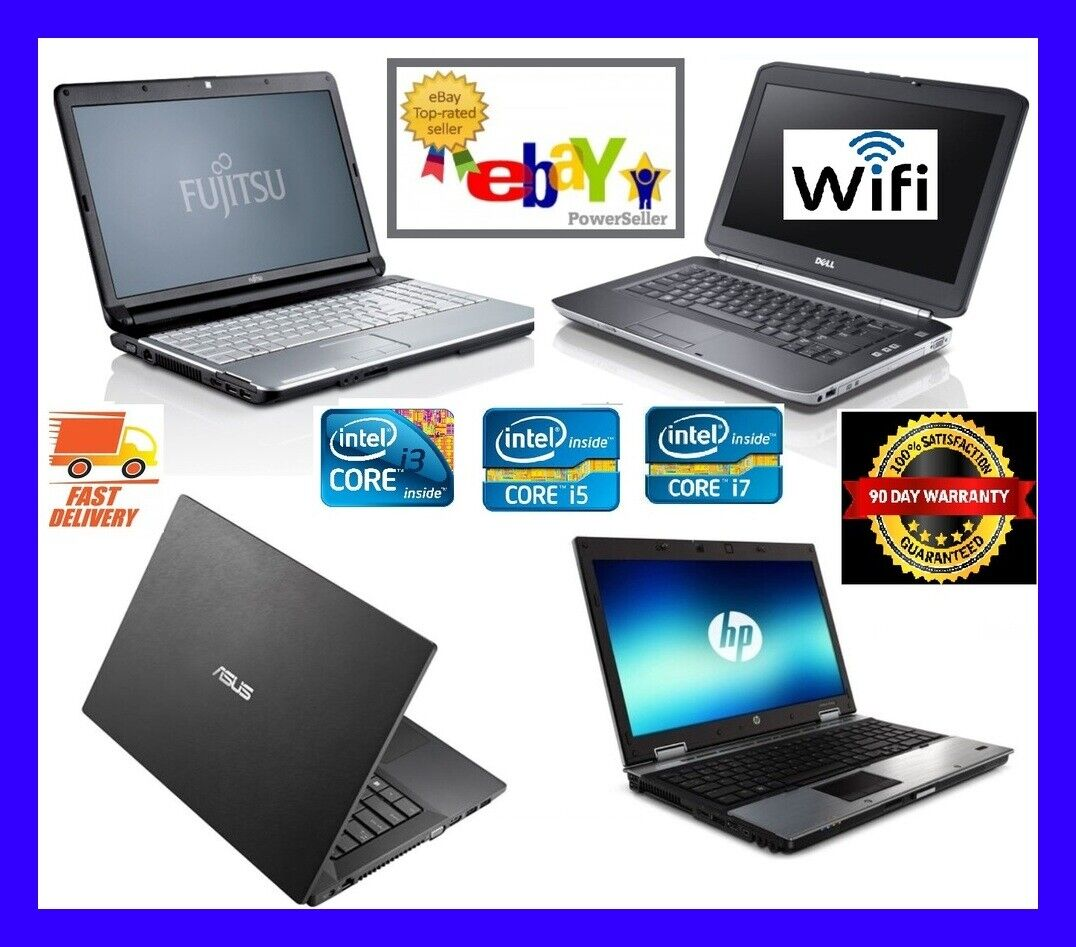 Laptop Windows - FAST CHEAP WINDOWS 10 LAPTOP DELL HP TOSHIBA D Core i3 i5 8GB RAM SSD HDD WiFi