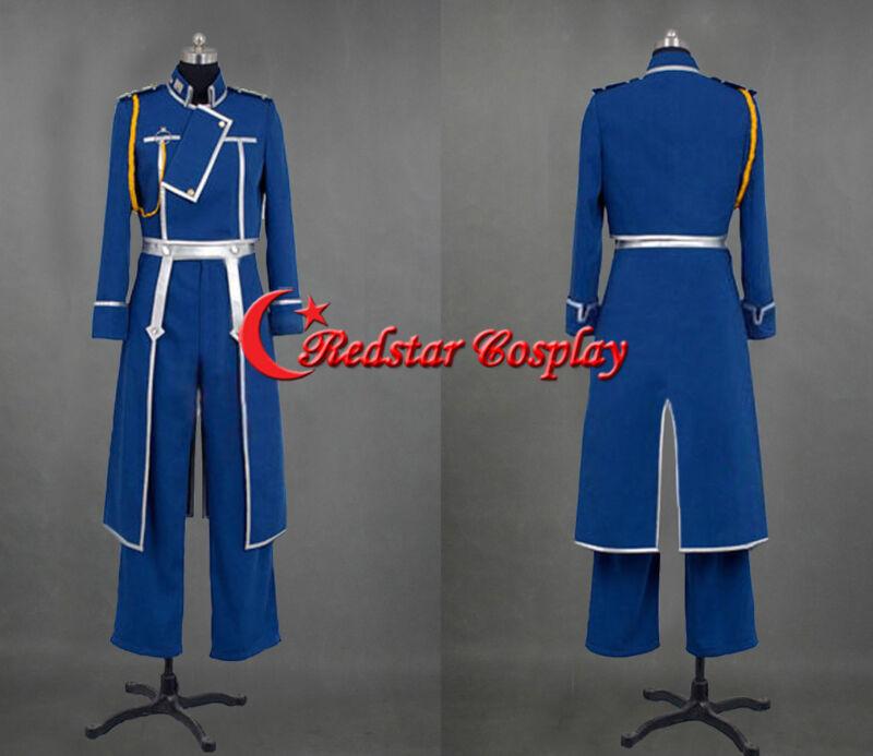 Fullmetal Alchemist Roy Mustang Cosplay Party Uniform Cosplay Costume