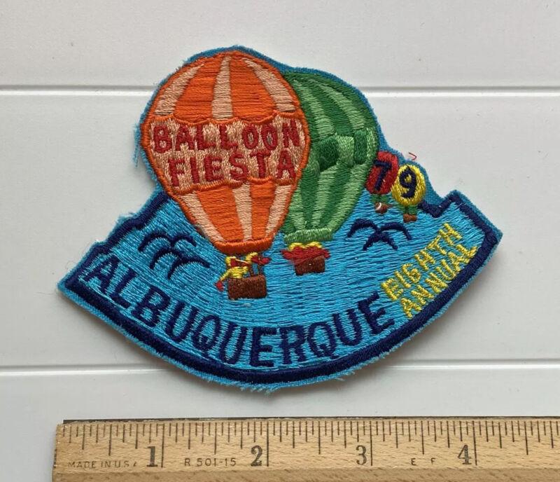 Vintage 1979 Eighth Annual Albuquerque Balloon Fiesta Hot Air Ballooning Patch