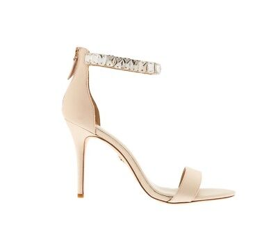 Judith Leiber Taupe Mackenzie Heels Sandals Shoes Size 5.5 RRP £185