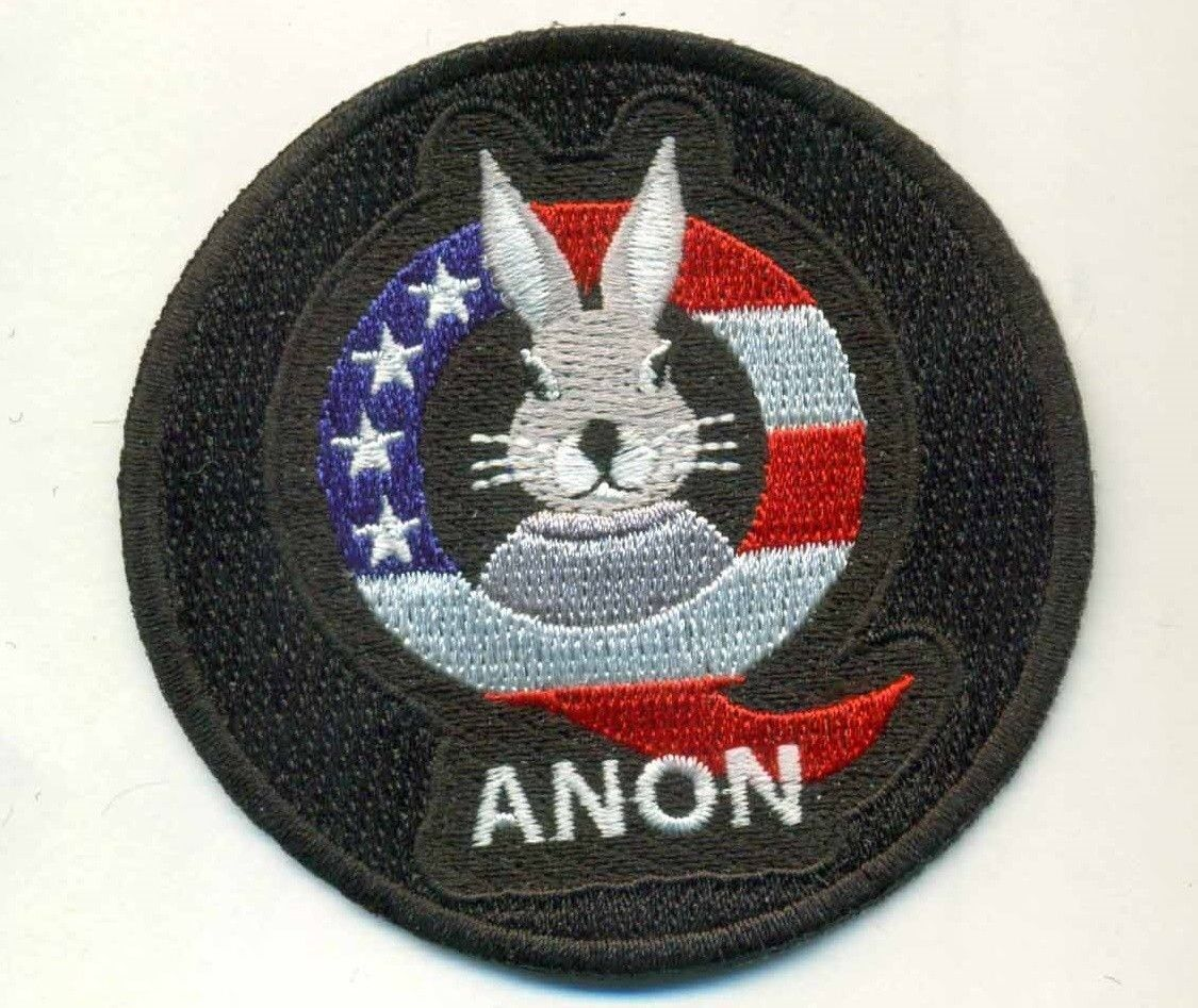 Q Anon iron on embroidered patch TRUST THE PLAN Qanon  punisher PAIN COMING Q