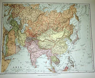 STANFORD'S 1892 MAP OF ASIA
