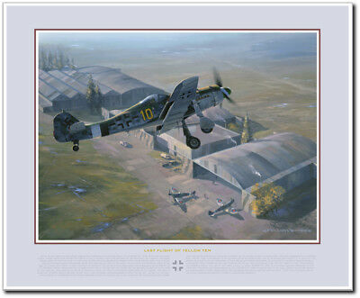 THE LAST FLIGHT OF YELLOW TEN by Jack Fellows - Fw.190 - Aviation Art Print (The Last Aviator)
