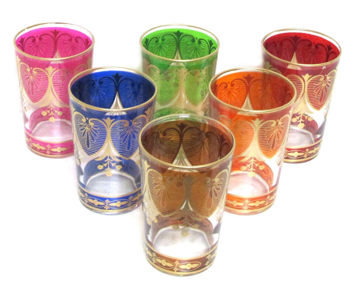"""6 Orientalische Marokkanische Arabische Teegläser Tee Glas """"Assif"""""""