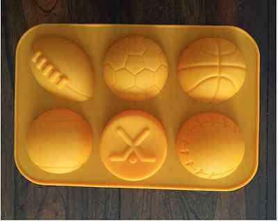 SPORTS PARTY FOOTBALL SOCCER BASKETBALL BASEBALL CAKE PAN CHOCOLATE CANDY MOLD  (Basketball Chocolates)