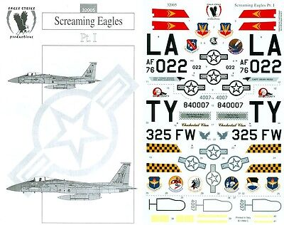 EAGLE STRIKE PRODUCTIONS 32005 DECALS 1/32 SCREAMING EAGLE Pt. I
