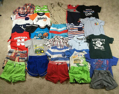 115 Piece Boy Toddler 12/18 Months Short/Long Shirts Pants Jeans Clothes Lot!!
