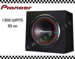 pioneer ud w304r caisson de basse partir 30 cm cluse 1300 watts prix affaire ebay. Black Bedroom Furniture Sets. Home Design Ideas
