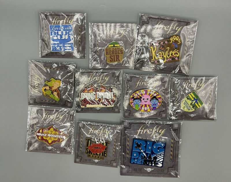 Firefly Serenity Loot Crate Pin Set Lot x10 Big Damn Heroes QMx Leaf On The Wind