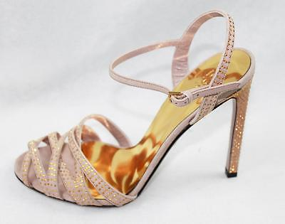 563a5bee5bfb AUTH  760 Gucci Women Fleur Scamoscia Suede Studded High Heel Sandal Shoes  38