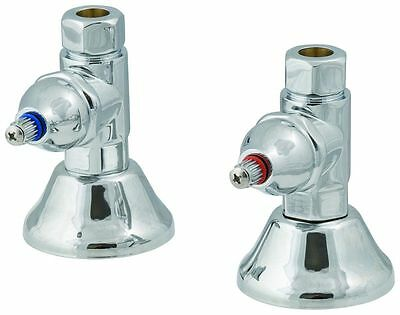 - Elizabethan Classics NSS1CP Tub Shower Straight Supply Stops in Chrome 1.5
