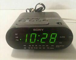 Sony Dream Machine FM/AM Digital Clock Radio Model ICF-C218 Black -  TESTED!