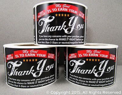 250 eBay etsy amazon Thank You For Your Purchase Stickers Shipping Labels Label (Etsy Ebay)