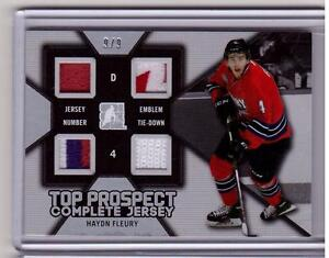 HAYDN-FLEURY-ITG-Leaf-2014-Draft-Prospects-Complete-Jersey-Patch-ROOKIE-9-9-SP