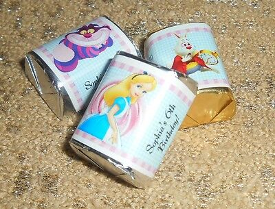 Alice In Wonderland Favors (ALICE IN WONDERLAND PERSONALIZED HERSHEY's NUGGET WRAPPERS BIRTHDAY PARTY)