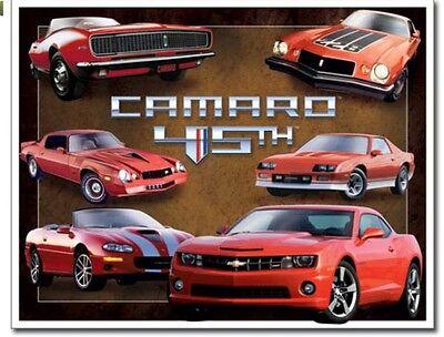 Chevy Chevrolet Camaro 45th Anniversary Metal Tin Sign Garage Home Wall Decor - Anniversary Signs