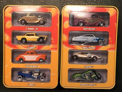 Hot Wheels Since '68 (2) (4) Car Tin Sets Originals & Hot Rods