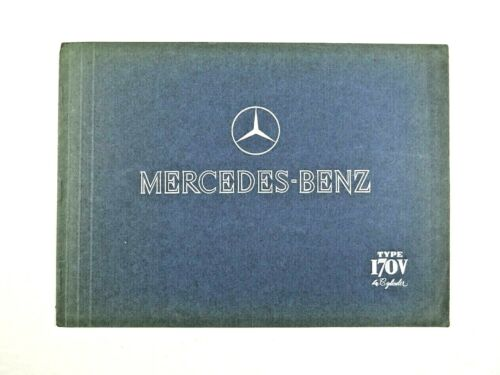 MERCEDES-BENZ  TYPE 170V BROCHURE, 1938, Made In Germany, Vintage, Rare