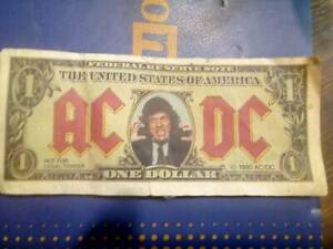 AC/DC Dollar Bill Rock Music Memorabilia