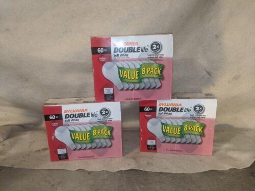 Sylvania Double Life 60 Watt Incandescent light bulbs Pack of 8