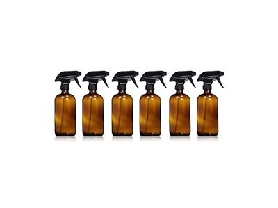 6 Glass Spray Cleaner Bottle Brown Amber Young Living Thieves 16 Oz 6 Pack