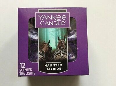 YANKEE CANDLE HAUNTED HAYRIDE TEA LIGHTS BOX OF 12 NEW HALLOWEEN SOLD OUT