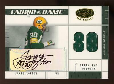 2003 Leaf Certified Fabric Of The Game James Lofton 47/80 Auto Jersey