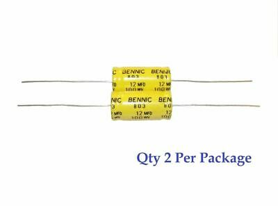 12uf 100v Non-polarized Electrolytic Axial Lead Capacitor 2 Pieces Np Bp