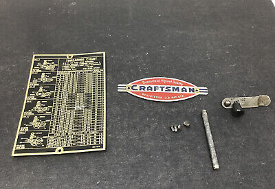 Atlas 618 Craftsman 101 Metal Lathe M6-99a Threading Chart Name Plate