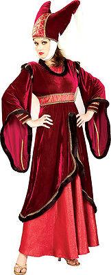 issance Maid Marion Kostüm 2 Teile Burgunderrot Velours & (Renaissance Und Mittelalter-kostüme)
