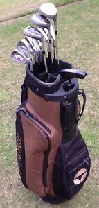 Golf Clubs RH men's full set + Taylormade bag Bundoora Banyule Area Preview