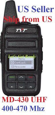 TYT MD-430 UHF 400-470Mhz 2 Watts DMR/Analog compact Two Way Radio US Seller