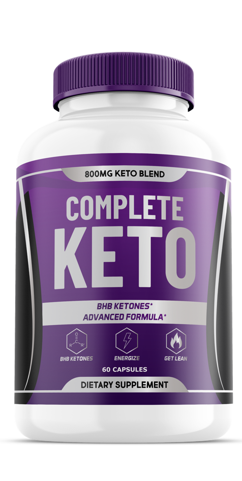 Complete Keto BHB Pills - 800MG Keto Blend - BHB Ketones, 1 Month Supply