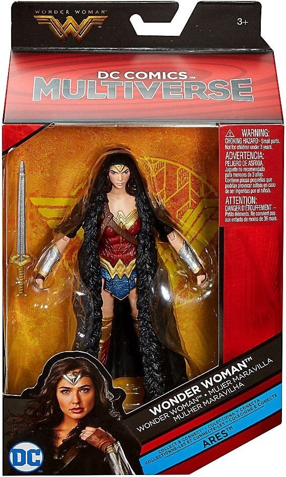 Mattel DC Comics Multiverse Wonder Woman Caped Figure, 6""