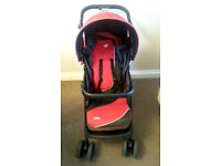 Joie pushchair Travel System with BRAND NEW car seat Group 0+ and footmuff