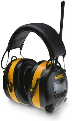 Digital Adjustable Ear Muff Radio Music Work Hearing Protection Dpg15 Dewalt