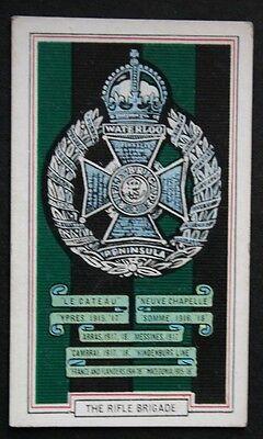 The Rifle Brigade   World War 1 Battle Honours  Tribute Card ## CAT A