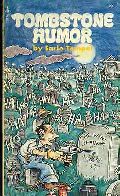TOMBSTONE HUMOR by Earle Tempel (1972) Pocket Books pb (Tombstone Humor)