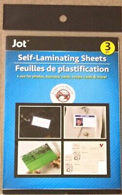 New 3pc Self- Laminating Sheets - Photos Recipe Business Cards Etc.