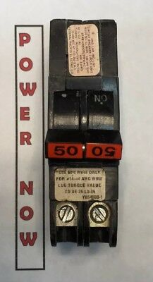 Federal Pacific Fpe Stab-lok Breaker 2 Pole 50 Amp 240v Thin - Ships Today